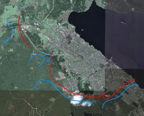 Карты. Бои за Петрозаводск в 1941 году (вся карта)