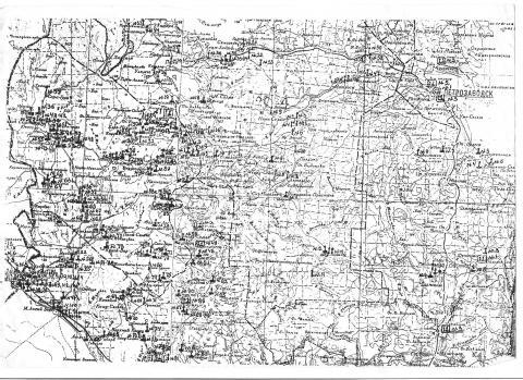 Карта захоронений 1947 г.